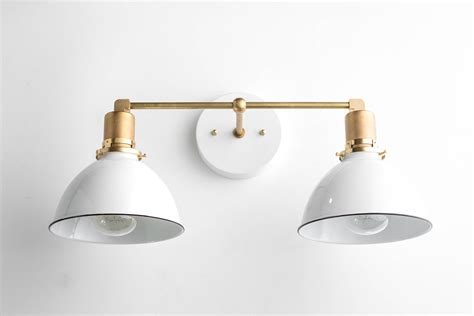 Bathroom Light Fixtures : Bathroom Wall Light Industrial Vanity Light Brass Light