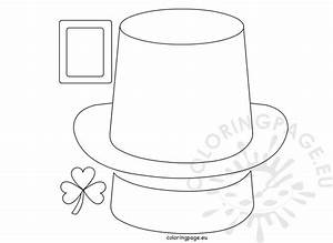 leprechaun hat paper craft coloring page With leprechaun hat template printable