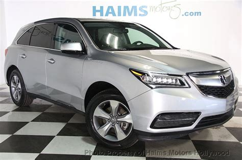 2015 used acura mdx fwd 4dr at haims motors hollywood