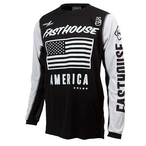 vintage motocross jersey fasthouse new mx america dirt bike vintage black white