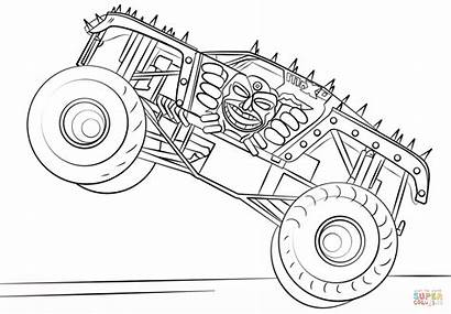 Coloring Monster Truck Pages Max Printable Drawing
