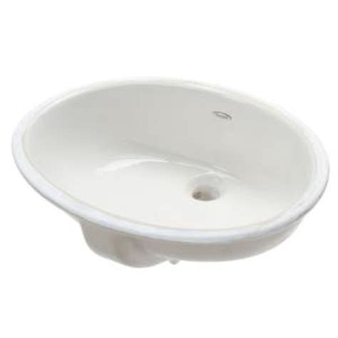 Undermount Bathroom Sinks Home Depot by American Standard Ovalyn Undermount Bathroom Sink In White