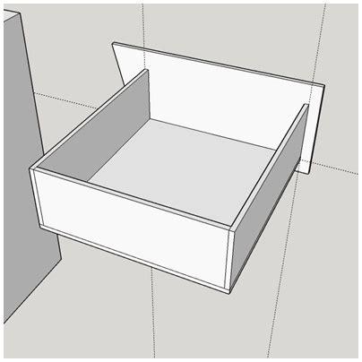 fabriquer  tiroir avec une facade biscornue lpb carton