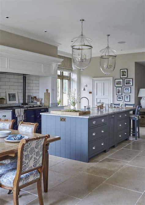 gorgeous french blue kitchen island  navy blue