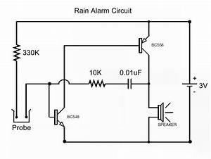 Rain Detector Alarm Circuit Diagram