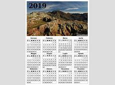 Calendari da scaricare con foto del 2019