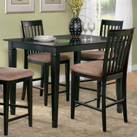 espresso counter height table atlantic furniture deco counter height pub table in