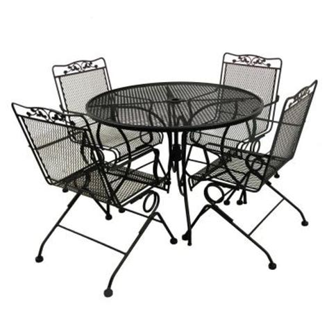 arlington house glenbrook black 5 patio dining set
