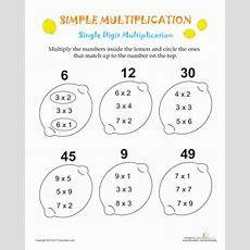 Simple Multiplication Lemons  Worksheet Educationcom