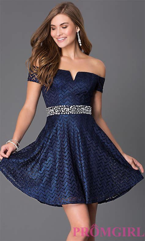 Going out dresses  Short Off the Shoulder Navy Blue Dress - best - Fashion u0026 Fancy