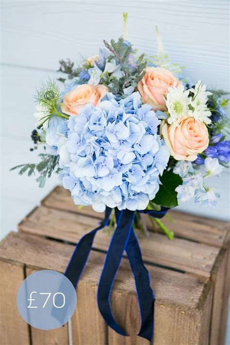 england style navy peach wedding bouquets  navy