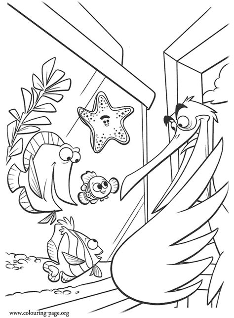finding nemo nemo peach bubbles  deb talking  nigel coloring page