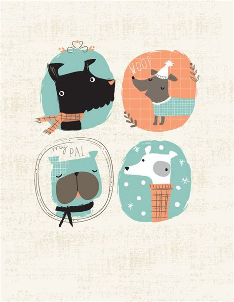 dog illustration ideas  pinterest dog art