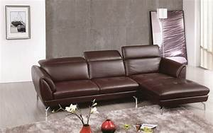 Brown sectional sofa with tufted seats and adjustable for Sectional sofa nashville