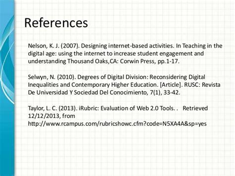 web  resource tools evaluation  education