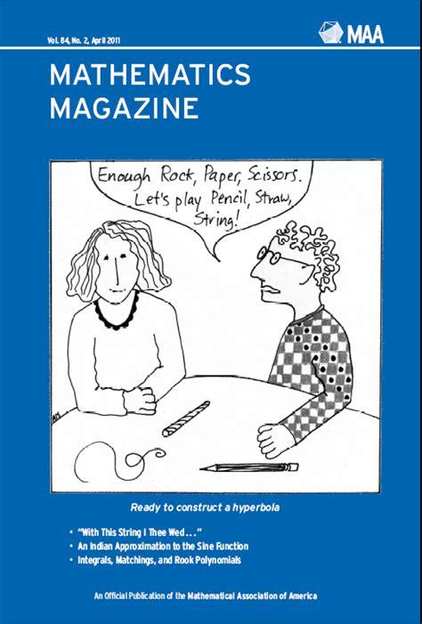 mathematics magazine april  mathematical