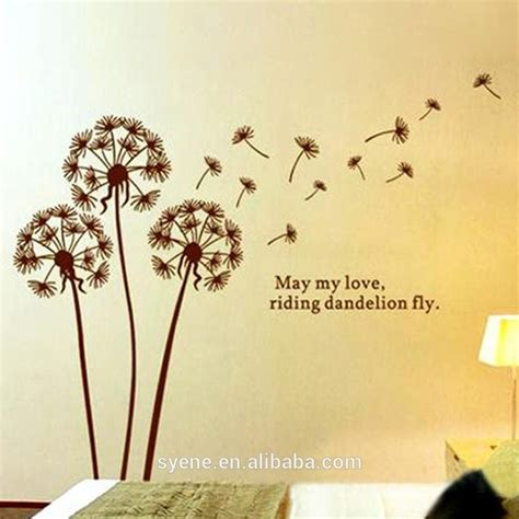painting flower picture  wall paper home decor dandelion