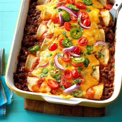 garlic beef enchiladas recipe taste  home
