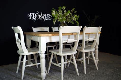 pine 5ft farmhouse table and 6 beech oxford bar back
