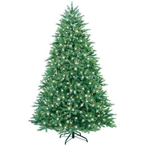 Ge Fraser Fir Pre Lit Christmas Tree ge 7 5 ft just cut fraser fir ez light artificial