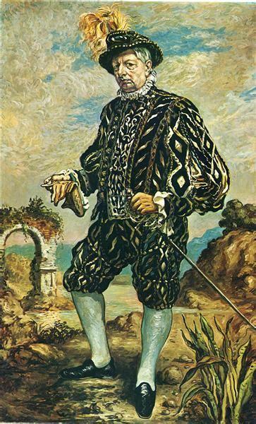 portrait  black costume  giorgio de chirico