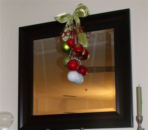 christmas mirror decor christmas pinterest