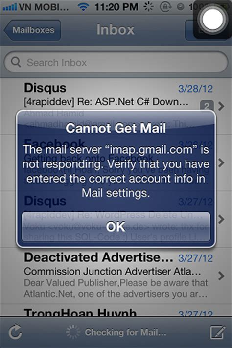 cannot get mail iphone bem informado italia gmail iphone 4s