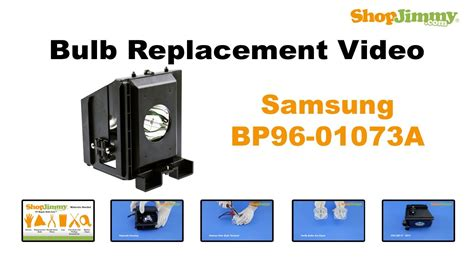 samsung bp96 01073a bulb replacement guide for dlp tv l