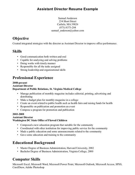 Abilities Exles For Resume by Resume Skills And Abilities Sles Diplomatic