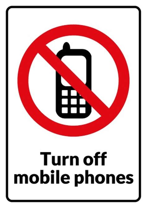 sign in mobile phone no mobile phones sign template how to print a no mobile