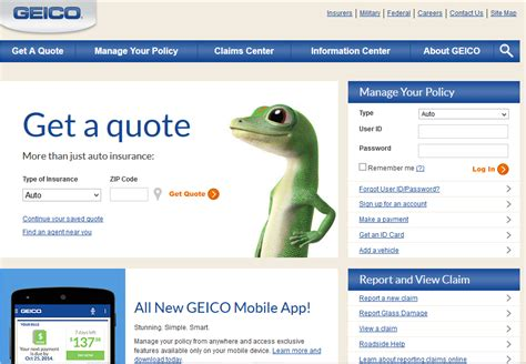 You can say a wide range of things, for example requesting insurance id card, etc. GEICO Bill Pay - Insurance - InformerBox