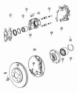 2012 Fiat 500c Caliper Assembly  Disc Brake  Front  Left   Anti
