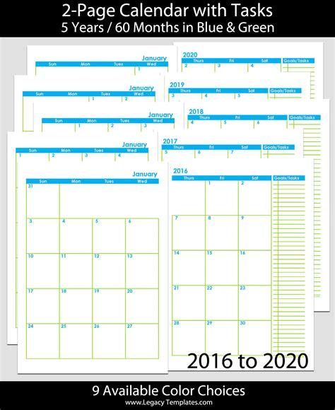 months  page calendar  legacy