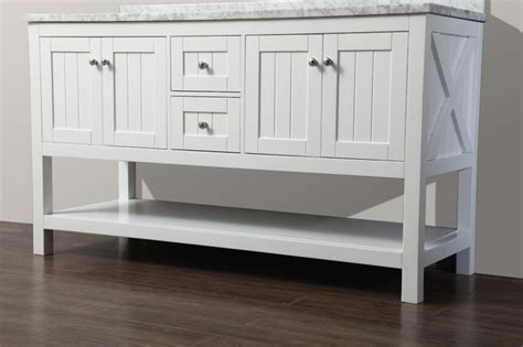 Cottage Style Vanities For Bathrooms by Emily 60 Quot Bathroom Vanity Cottage Style White