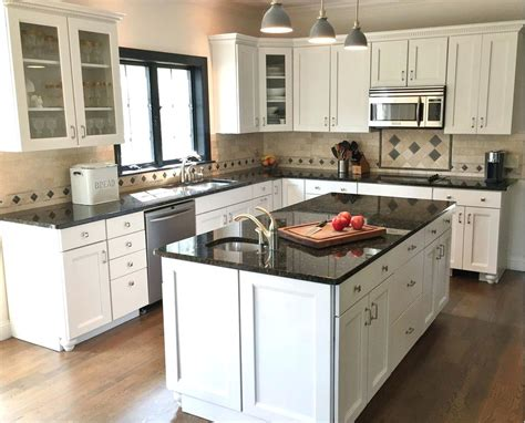 L Shaped Kitchen Traditional L Shaped Kitchen With White