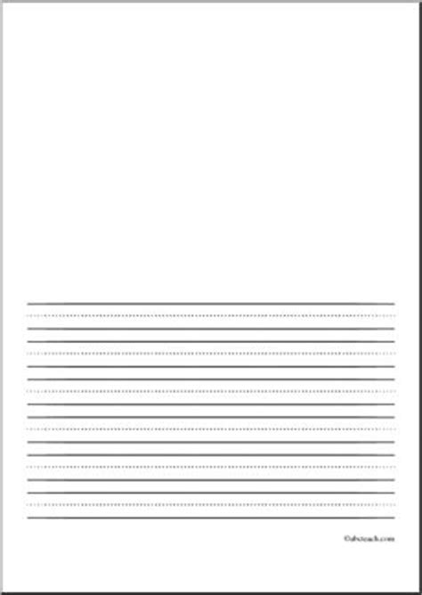 writing paper blank  pt portrait illustration space primary abcteach