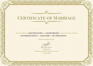 marriage certificate maker 12 marriage certificate templates certificate templates