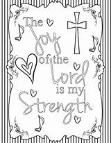 Joy Coloring Lord Adult Bible sketch template