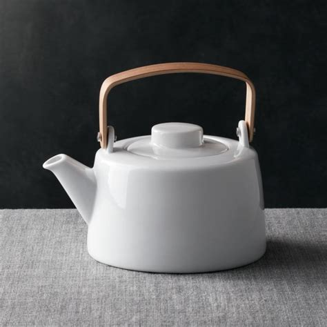 teapot  wooden handle crate  barrel