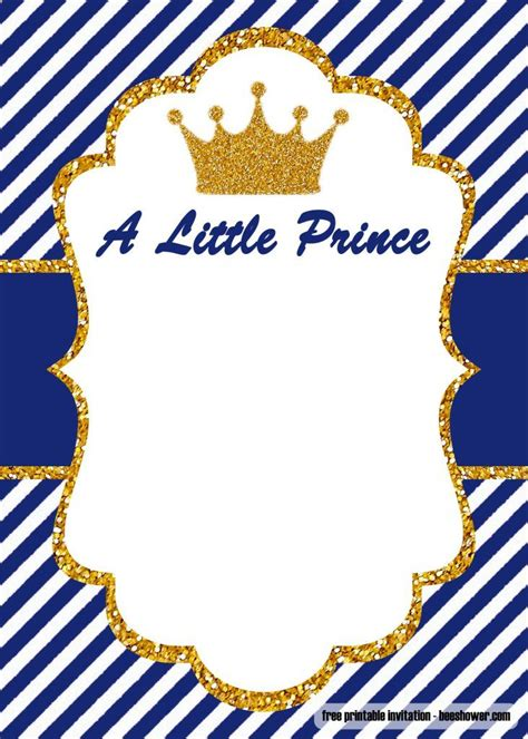 prince baby shower invitations templates