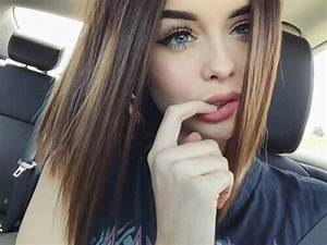 beautiful, beauty, blue eyes, brown hair, car - image ...