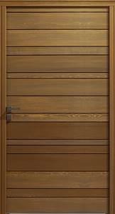 Porte D Entrée En Bois Moderne : les portes d 39 entr e les portes bois comptoir des bois ~ Nature-et-papiers.com Idées de Décoration