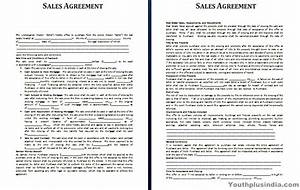 sales agreement template youth plus india With sales terms and conditions template free