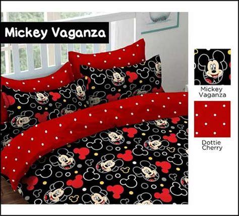 Sprei Katun Mickey distributor sprei katun murah bedcover 081289514505