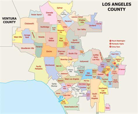 map  los angeles neighborhoods wanderlust los