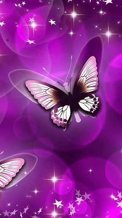 Butterfly Purple Android Wallpapers Aesthetic Resolution
