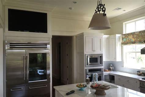 built  kitchen cabinet tv