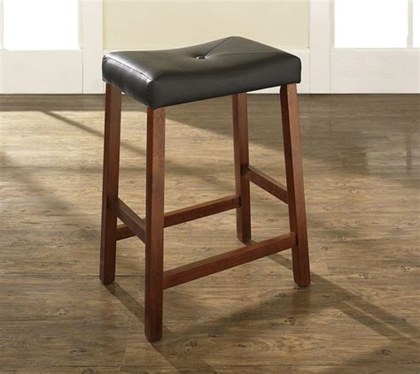 counter height backless stools upholstered saddle seat bar stool with 24 inch seat height 5929