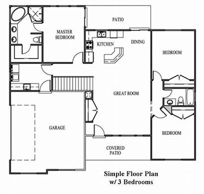 Plan Floor Simple Commercial Drawing Building Office