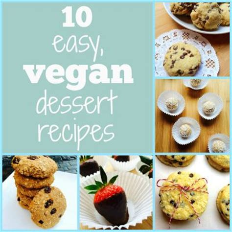10 easy vegan dessert recipes cookbook by vegannie bakespace